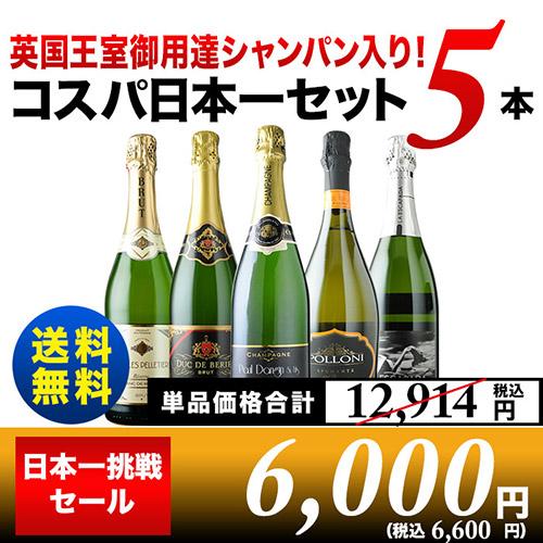 コスパ日本一挑戦セット 泡5本
